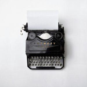 Blog, typewriter, blogging, writing